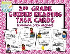 These task cards are perfect to use during guided reading or small group… Guided Reading Template, Guided Reading Activities, Reading Lessons, Teaching Reading, Teaching Ideas, Learning, Teaching Schools, Reading Resources, 2nd Grade Ela
