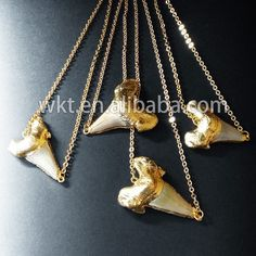 WT-N384 New! Wholesale double loops shark teeth necklace by WKTjewelry on Etsy http://tmiky.com/pinterest