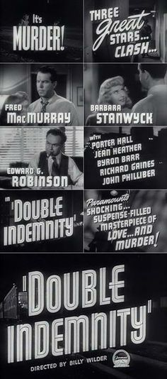 Oscar-winning Billy Wilder directed Barbara Stanwyck and Fred MacMurray in this 1944 film noir
