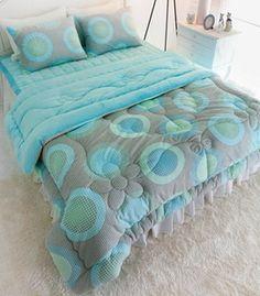$208 genuine elegant blue the Linter quilt bedding kit / bedding a family of four-ZZKKO