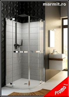 Cabina dus semirotunda Astor 90 x 90 cm, obiecte sanitare, cazi de baie, cazi compozit, cazi otel, cazi acril, cabine de dus, lavoare baie, lavoare compozit, chiuvete baie, mobilier baie, chiuvete bucatarie, vase wc, wc suspendat, bideuri suspendate, baterii baie, robineti baie, baterii bucatarie Douche Design, Deco, Bathtub, How To Plan, Bathroom, Cher, Showers, Houses, Shower Screen