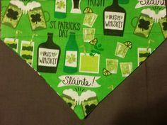 Irish Whiskey St. Patrick's Day Dog Banadanas!! by DogGoneGoodBandanas on Etsy