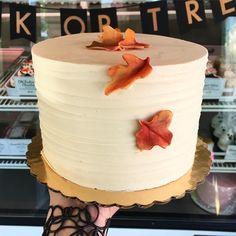 """307 Likes, 4 Comments - Whipped Bakeshop (@whippedbakeshop) on Instagram: """"Pumpkin Caramel Cake available to purchase! 6"""" pumpkin spice cake filled and iced with caramel…"""""""
