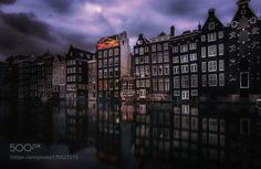 Amsterdam  by remoscarfo on 500px  When you enter the city of Amsterdam via the Grand Central Station this is one of the first views you get presented with ;-)  ... Fotografie / photography / Reisefotografie / travel photography