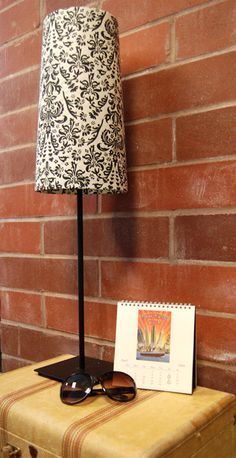 Cover a lampshade with wrapping paper!