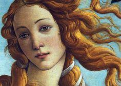 """""""Birth Of Venus"""" (Detail) -- 1483-85 -- Sandro Botticelli (Alessandro di Mariano di Vanni Filipepi) (1445 – 1510, Italian) -- Tempera on wood -- Uffizi Gallery -- Florence, Italy"""