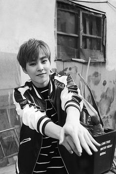 LUCKY ONE/MONSTER - Xiumin - possibly his most beautiful smile ever...  Just so peaceful and genuine... One of those things that makes me glad to be a woman..