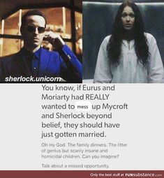 Sherlock, Euros and Moriarty talk about a missed opportunity that marriage would be great! Sherlock Fandom, Sherlock John, Sherlock Holmes Bbc, Jim Moriarty, Sherlock Quotes, Benedict Sherlock, Watson Sherlock, Batman, Superman