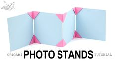 Origami Photo Display Stand Tutorial  DIY  Paper Kawaii #origami #paperkawaii