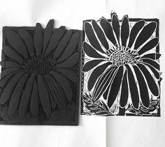 Linocut,Blume