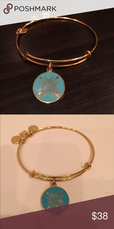 "Alex and Ani ""Arrows of Friendship"" gold bangle Authentic Alex and Ani bangle- Like new in great condition! Alex & Ani Jewelry Bracelets"