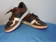 Lacoste Ogata Shoes Brown White Pink Mens Athletic Sneakers Sz 12 FREE SHIPPING #Lacoste #AthleticSneakers