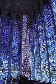 #blue  via  http://architectureofdoom.tumblr.com/post/96161718623/dom-bosco-sanctuary-brasilia-carlos-alberto