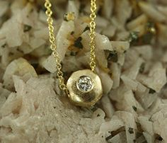 RECYCLED 14K Yellow Gold Sculptured Necklace by JanPalmerDesigns, $375.00