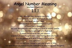 Numerology: Angel Number 111 Meaning | #numerology #angelnumbers