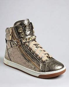 MICHAEL Michael Kors High Top Lace Up Sneakers - Glam | Bloomingdale's