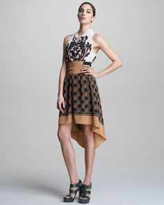 Belted High-Low Halter Dress by Tracy Reese at Neiman Marcus.