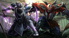 Ninja League of Legends Zed vs Shen HD Wallpaper