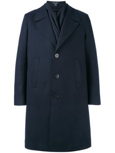 Comprar Neil Barrett shawl collar coat.