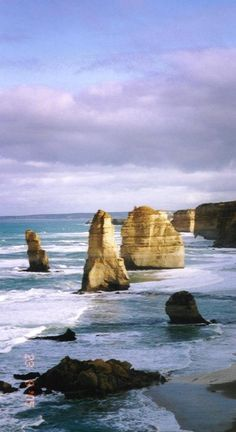 The Twelve Apostles, except there are only 5 left. Erosian and time take them away to sea. Victoria, Australia