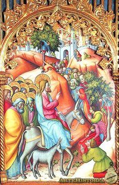 La entrada en Jerusalén, Catedral Vieja de Salamanca. Retablo - Obra - ARTEHISTORIA V2