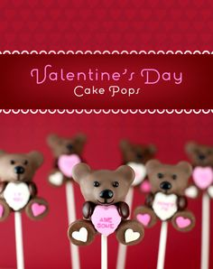 Valentine Cake Pops via @bakerella