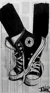 ༻❁༺ ❤️ ༻❁༺ Converse Illustration// By Artist Loui Jover ༻❁༺ ❤️ ༻❁༺ Louis Jover, Art Sketches, Art Drawings, Newspaper Art, Wow Art, Arte Pop, Black Art, Native American Indians, Amazing Art