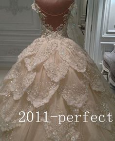 Luxury Multilayers Bridal Wedding Dresses 2016 Ball Gowns Crystals Beads Custom