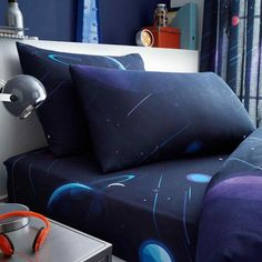 kids space chimp fitted sheet