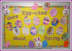 Easter Eggs on the Bulletin Boards