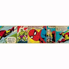 Marvel Comics Self Adhesive Wallpaper Border >>> Want to know more, click on the image.Note:It is affiliate link to Amazon.