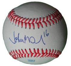 John McDonald Autographed ROLB Baseball, Arizona Diamondbacks, Detroit Tigers, Proof Photo by Southwestconnection-Memorabilia. $39.99. This is a John McDonald autographed Rawlings official league baseball. John signed the ball in blue ballpoint pen. Check out the photo of John signing for us. Proof photo is included for free with purchase. Please click on images to enlarge. 1