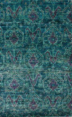 Rugs USA Aguada Dayton Ikat Hemp Hand Knotted Green Rug  $589 WITH 35% OFF = $383
