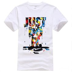2016 New Fashion T-shirt Brand Clothing Just Do It Letter Print Men T Shirt Summer Tops Tees Streetwear Anime Male Tshirt