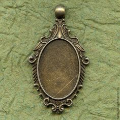 Купить Основа овал под кабошон или заливку - украшения ручной работы, авторские украшения