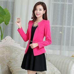 Long Sleeve Single Buttoned Casual Blazer Coat