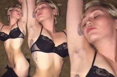 Miley Cyrus shows off her tiny figure and armpit hair in daring half-naked snap - 3am & Mirror Online