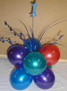 Latex and foil helium balloons and helium gas tank cylinder hire