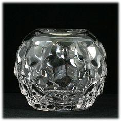 Fostoria American Elegant Glass Rose Bowl Crystal Vase