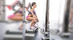 Cable Machine Workout: Suitcase Squat