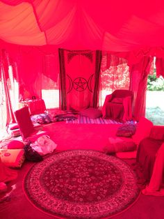 Red Tent at Women Circles women's retreat, Rowe, MA.