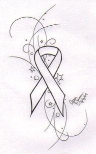 Cancer ribbon tattoo
