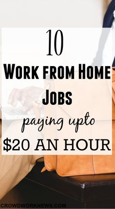 10 Work From Home Jobs Paying up to $20 an Hour