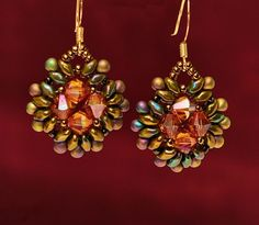 Free pattern for earrings Pavo | Beads Magic