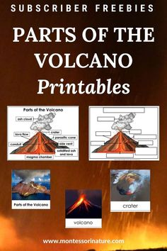 Join to download Parts Of The Volcano Poster, 3 Part Cards, Blackline Masters for free for your preschool and kindergarten classroom. Montessori Materials, Blog Love, Kindergarten Classroom, Early Childhood, Free Printables, Activities For Kids, Homeschool, Education
