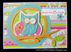 Small Bits of Paper: Paisley owl