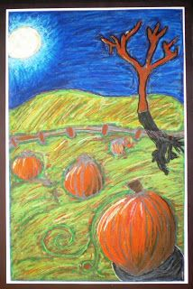 Spot of Color: 6th Grade Value Pumpkin Patch