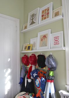 Kids Dress Up Area & Picture Display via Stately Kitsch