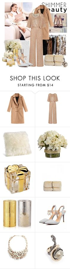 """""""Shimmer beauty"""" by moni4e ❤ liked on Polyvore featuring Storia, Maybelline, Oris, Temperley London, Mikasa, Avon, Jenny Packham, Alexis Bittar, Katie Loxton and Frontgate"""