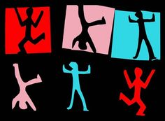Positive/Negative Keith Haring like designs